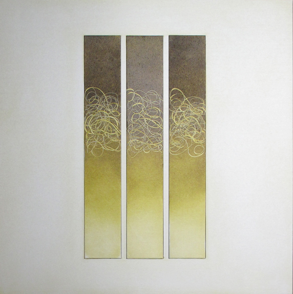 A Cappella 2 (2011) Oil on aluminum, 12 x 12